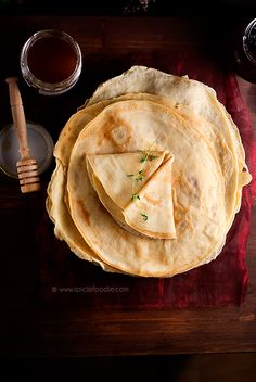 How To Make French Crepes cups or 220 g sifted all purpose flour 1 cup or 250 ml whole milk 1 cup or 250 ml water 2 large eggs 1 tsp salt 1 tsp sugar unsalted butter for pan - Good Lunch Stock Photography Breakfast Recipes, Dessert Recipes, Breakfast Dessert, Desserts, Mexican Breakfast, Pancake Recipes, Breakfast Sandwiches, Breakfast Pizza, Waffle Recipes