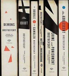 Dostoyevsky spines.  @PenguinUKBooks   via @gray