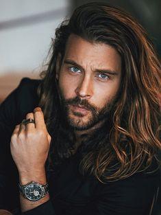 Face Shape Hairstyles, Boy Hairstyles, Braided Hairstyles, Natural Hairstyles, Hair Men Style, Hair And Beard Styles, Long Hair Styles, Jack Greystone, Hommes Sexy