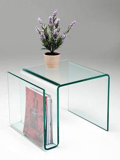 Mesa auxiliar de cristal con revistero integrado Decor, Furniture, Side Table, Deco, Table, Home Decor, Home Deco