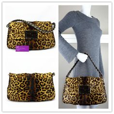 e2ba82cf8b FENDI flapbag leopard print pony hair with leather very good conditions ref. code-(CESY-5)