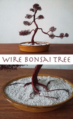 How to make a Bonsai tree out of wire.
