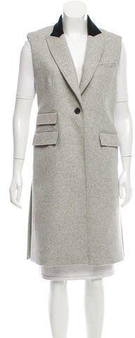 Veronica Beard Virgin Wool Longline Vest