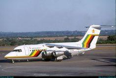 Air Zimbabwe British Aerospace Z-WPD at Harare-International, November (Photo: Bill Hough) Air Zimbabwe, Jets, British Aerospace, Airplane Photography, Car Illustration, Civil Aviation, Commercial Aircraft, Bae, Salisbury
