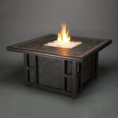 Agio Greenbrier Gas Fire Pit Pits Outdoor Living Deck Campfires