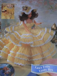 Fancy Frills Vanity Box Crochet Pattern Looks Like A Ruffled Gown By Using An 11…