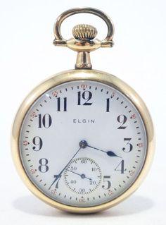 Elgin Pocket Watch Gold Filled 7 Jewel  Running Pocket Watch!! Free Shipping #Elgin