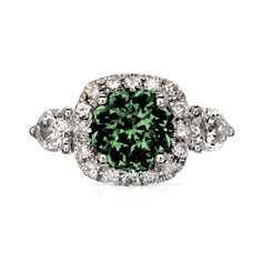Cadence Carat Tsavorite Engagement Ring With Diamonds White Gold Diamonds, Diamond Rings, Garnet, Engagement Rings, Stone, Metal, Color, Beautiful, Products