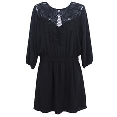 FOREVER 21 - 3/4 Sleeve Lace Detail - NWOT Little black dress with mid sleeves & lace chest design. NEW WITHOUT TAGS. Beautiful dress for several occasions! ❌TRADES❌ Forever 21 Dresses