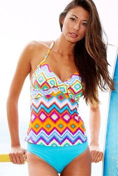 Twist Sydney Tankini Top.  I've never been into Tankinis, but this one is changing my mind!