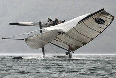 Catamaran X40      That is a long drop