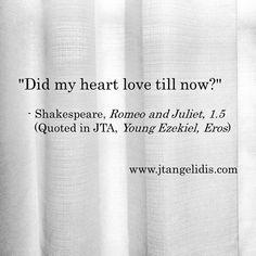 #love, #eros, #romantic, #Shakespeare, #RomeoAndJuliet, #dating, #author, #novel, #novella, #literature, #art, #artist, #poetry, #philosophy, #JTA, #YoungEzekiel, #Amazon, #eBook, #paperback