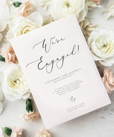 invitations Engagement Party Invitation, We're engaged invite, wedding announcement invite, engagement invitation template 110 Engagement Party Planning, Engagement Party Decorations, Engagement Cards, Wedding Engagement, Engagement Parties, Engagement Photos, Wedding Planning, Wedding Rings, Holi Party