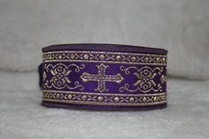 Purple and gold brocade