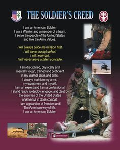 Army Medic Combat Soldier Soldiers Creed Prayer
