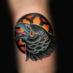 Crow tattoos are the epitome of black-and-white designs. To see their ...