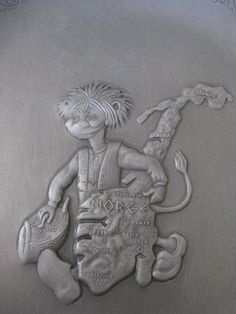 Hey, I found this really awesome Etsy listing at https://www.etsy.com/listing/244812469/vintage-norge-troll-aluminum-plate
