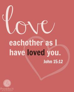 """People just want to feel loved. Remembered. Noticed. Valued. ☆""""You should owe nothing to anyone, except that you will always owe love to each other. The person who loves others has done all that the law commands."""" Romans 13:8 ERV ☆""""This is my commandment: Love each other in the same way I have loved you."""" John 15:12 NLT ☆""""My children, our love should not be only words and talk. No, our love must be real. We must show our love by the things we do."""" - 1 John 3:18 ERV"""