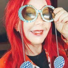 Instagram Kate Pierson, Ricky Wilson, B 52s, The B 52's, Drag Queens, Kurt Cobain, Stilettos, Round Sunglasses, Instagram