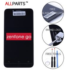 Orijinal asus zenfone go için test 1280x720 ekran lcd dokunmatik ekran çerçeve sayısallaştırıcı meclisi ile 5.0 çift sim zc500tg z00vd