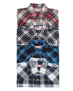 """Stay warm and comfortable. Drysdales Own ASSORTED Plaid Long Sleeve Flannel Shirts with western yokes, snap front #winter2015 casual men's clothing for cowboys rugged men man western ranch style tough """"gifts for cowboys"""" """"gifts for men"""""""