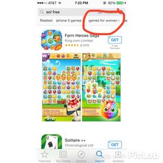"""""""Games for women"""" on iTunes. Thanks @ bee_randon!"""