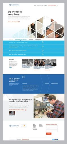 Web design and development for Buckingham Asset Management / Financial Services:
