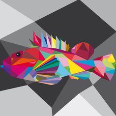 Scorfano. Adobe Illustrator. Tecnica Wpap. Autore Iraia Civiero 3Al