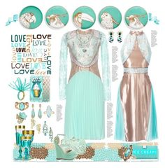 """Mint Ice Cream Treats"" by yours-styling-best-friend ❤ liked on Polyvore featuring interior, interiors, interior design, home, home decor, interior decorating, Jonathan Adler, Christopher Kane, Kate Spade and Betsey Johnson"