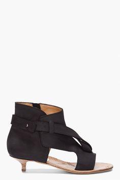 the front detailing. ++ black strappy sandals ++ maison martin margiela