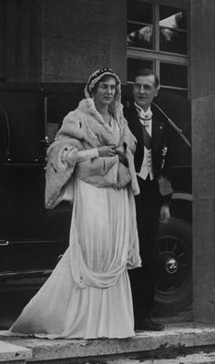 Their Highnesses Wilhelm and Marianne, Landgrave and Landgravine of Hesse-Philippsthal-Barchfeld. Married: January 30, 1933