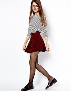 American Apparel Corduroy Skater Skirt #fashion #skirt #trend