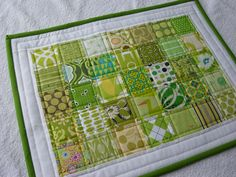 Love quilted placemats!
