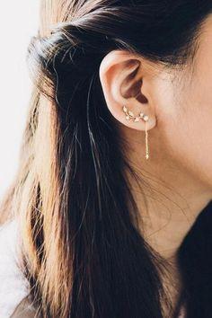 2018 Handmade Crystal Elegant Ear Stud long 67 mm Strass Boucles D/'Oreilles Cadeau