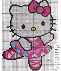 Patron Hello Kitty a punto de cruz