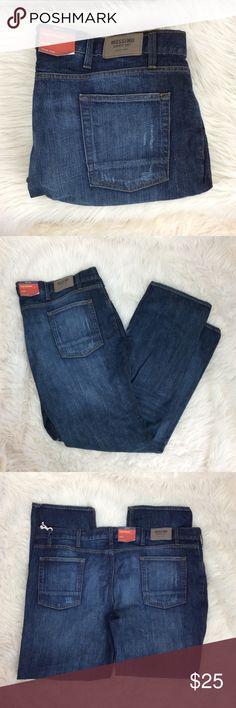 Men's Big & Tall Slim Straight Jeans Men's big and tall slim straight jeans. Mossimo Total Flex in medium distressed wash. Siz 46x32 Mossimo Supply Co Jeans Slim Straight