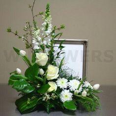 New Flowers Arrangements Funeral Centerpieces Ideas Altar Flowers, Church Flowers, Funeral Flowers, Silk Flowers, Wedding Flowers, Flowers Garden, White Flowers, Funeral Floral Arrangements, White Flower Arrangements
