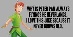 Peter Pan joke, funny puns, word play, clean joke