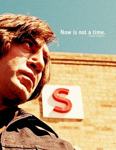 Anton: What time do you close?  Gas Station Proprietor: Now. We close now.   Anton: Now is not a time. What time do you close?  --  no country for old men