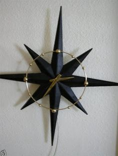 1950's Atomic Ranch House: 1950's Starburst Eames Back-Lit Clock