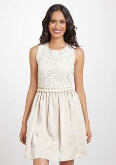 Gabby Skye, crochet Lace Fit and Flare Dress