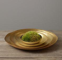 Sculptural Brass Platter