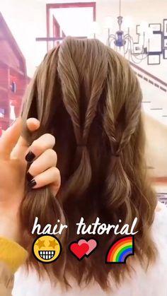 Hair Cuffs, Cute Hairstyles, Lazy Girl Hairstyles, Hairdos, Rose Gold Hair, Short Hair Styles, Hair Styles Easy, Hair Videos, Hair Designs