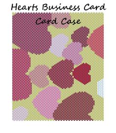 Hearts Business Card Case Word Map Chart