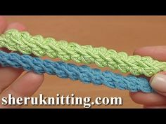 In todays tutorial I will be making this simple beautiful puff stitch crochet cord. Begin the work by making a chain of 2 This is the foundation. Now YO, insert the hook into the second chain stitch away from the hook and pull up a loop through Everything. Crochet, Tutorial, How, Crochê, Cord,...