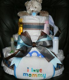 Diaper Cakes...SO much fun to make.