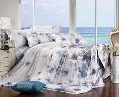Elegance Blue Luxury Bedding Sets [100400200077] - $229.99 : Colorful Mart, All for Enjoyment
