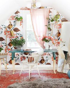 And if you don't consider yourself the craftiest person, don't sweat it—there are a variety of options for you here, too. Home Office Space, Home Office Decor, Home Decor, Closet Office, Desk Space, Homemade Desk, Under Desk Storage, Bond, Colorful Desk