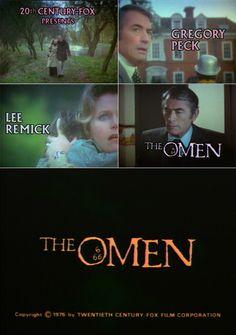 The Omen (1976) trailer typography