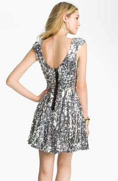 silver sequin dress // nordstrom jewels and dress up Big Fashion, Fashion Show, Womens Fashion, Formal Prom, Formal Dresses, Silver Sequin Dress, Sequin Wedding, Birthday Dresses, Junior Dresses